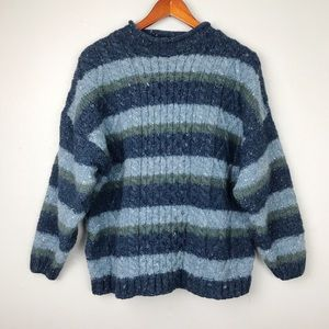 Vintage Celtic Country Irish Wool Sweater L
